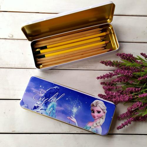 Elsa Metal Kalem Kutusu