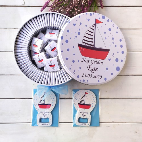 Gemi Konsept 50 Çikolata 25 Balon Magnet