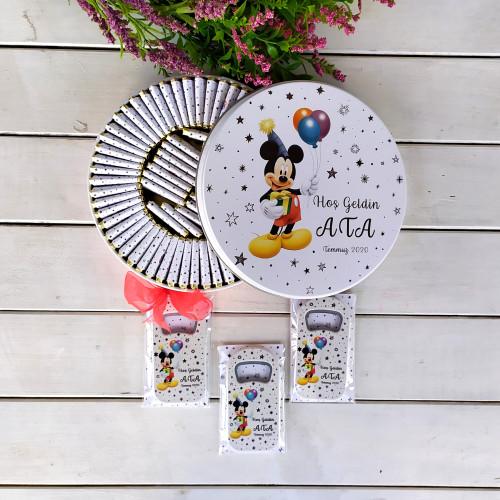 Mickey Konsept Bebek Çikolatası 25 Uzun Açacak Magnet