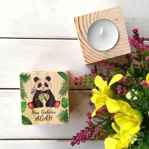 Panda Konsept Kütük Mum