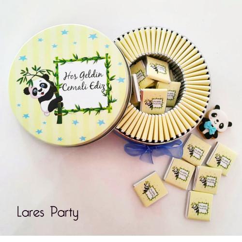 Panda Tema Bebek Çikolatası