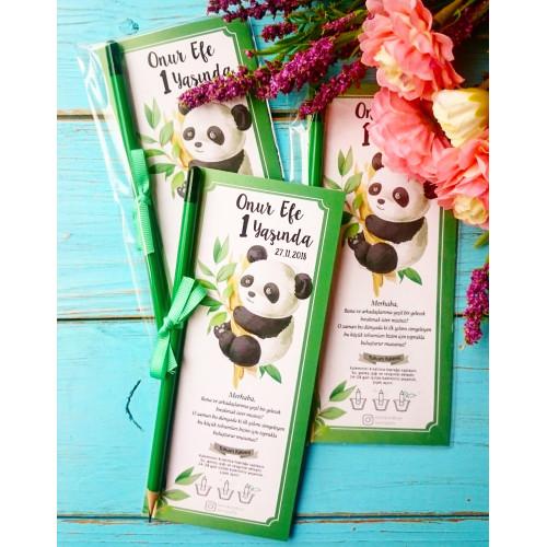 Panda Temalı Tohum Kalemi