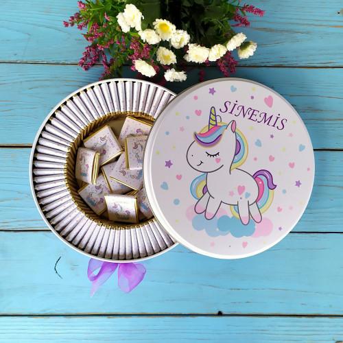 Unicorn Tema Bebek Çikolatası
