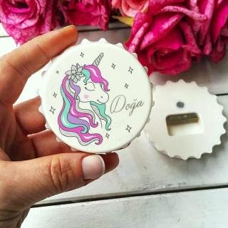 Kız Bebek Unicorn Acacak Magnet