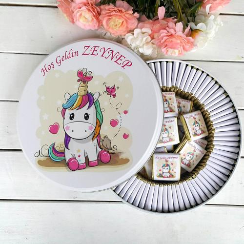 Unicorn Temalı Bebek Çikolatası
